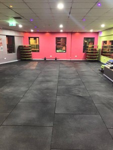 Dance Studio floor using our 20mm thick fitness flooring.